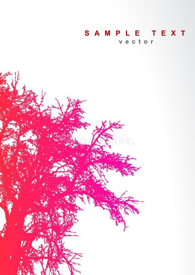 Árbol con el lugar para el texto. stock de ilustración