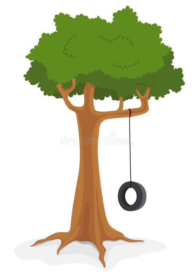 Árbol con el oscilación libre illustration