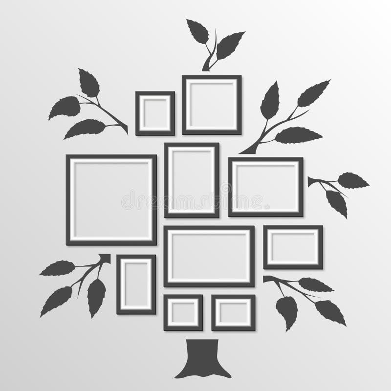 Árbol con los marcos libre illustration