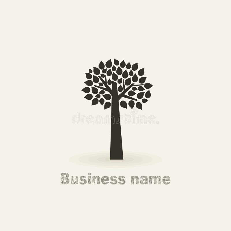 Firme un árbol ilustración del vector