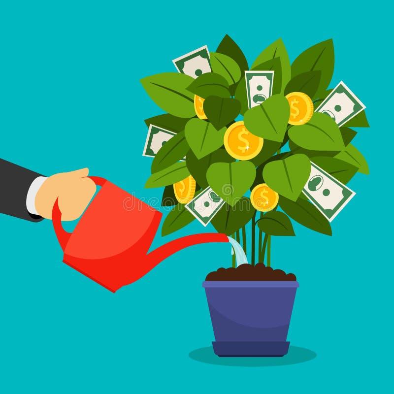 Árbol creciente del dinero stock de ilustración