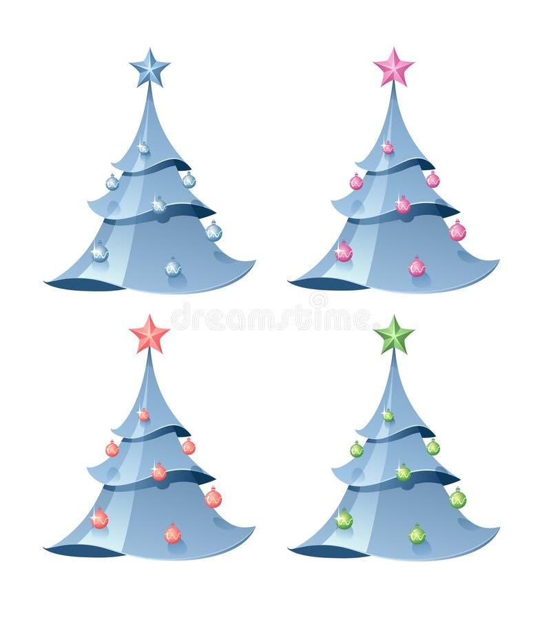 Árbol de abeto de la Navidad ilustración del vector