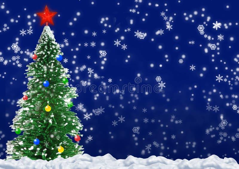 Árbol de abeto de la Navidad stock de ilustración