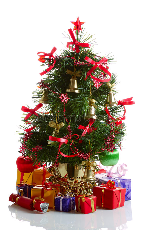 Árbol de abeto de la Navidad fotos de archivo