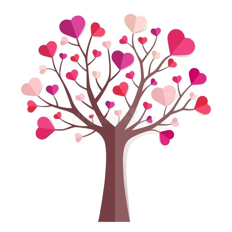 Árbol de amor stock de ilustración