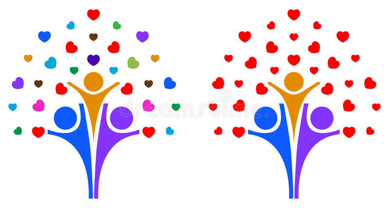 Árbol de amor de la familia libre illustration