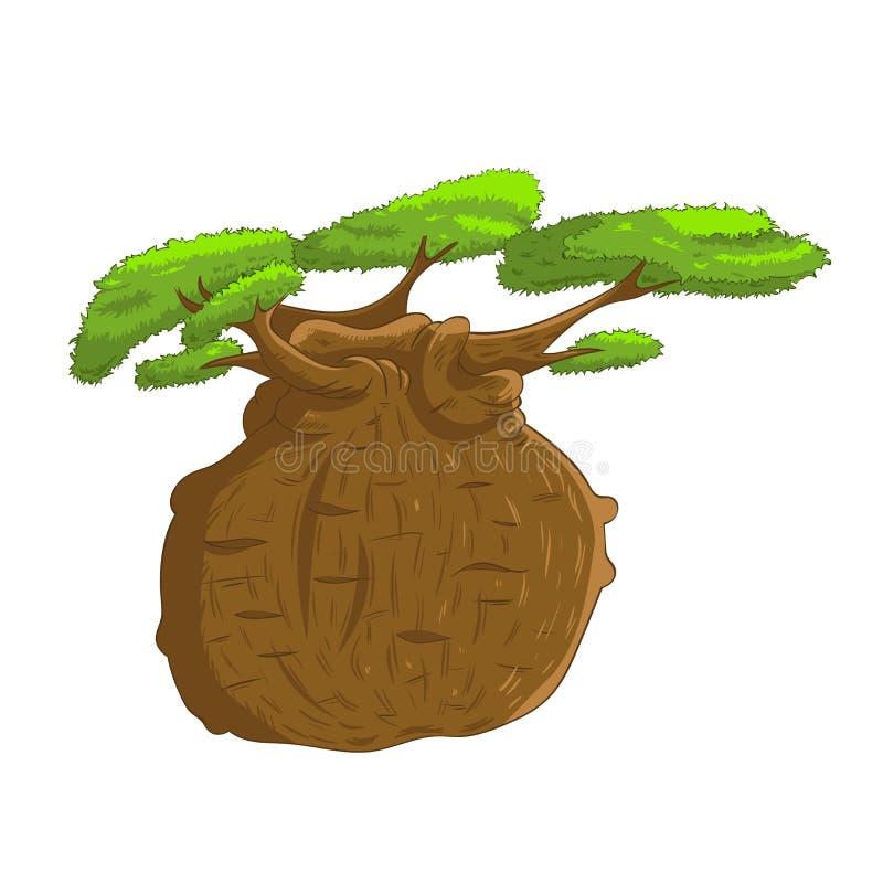 Árbol de Baoba stock de ilustración