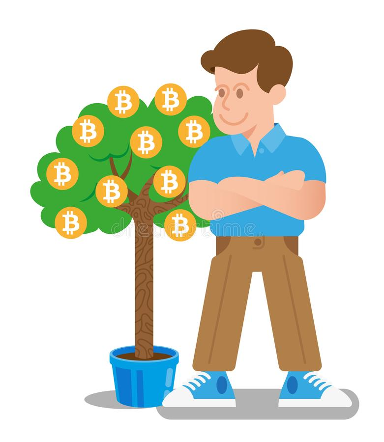 Árbol de Bitcoin libre illustration