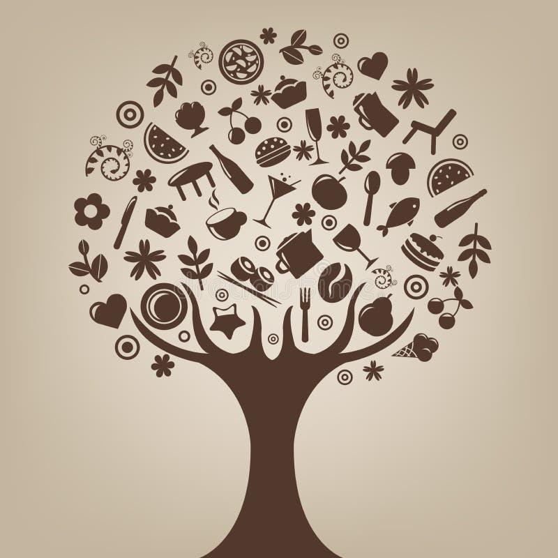Árbol de Brown stock de ilustración