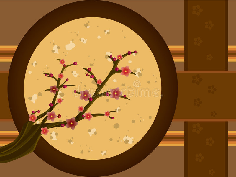 Árbol de ciruelo ilustración del vector