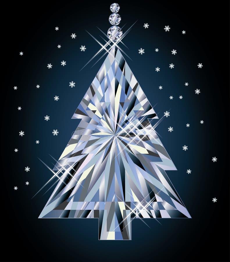 Árbol de Diamond Christmas stock de ilustración