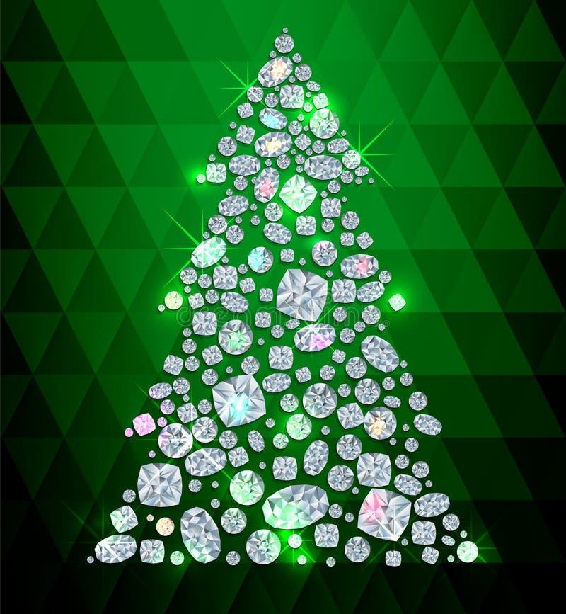 Árbol de Diamond Cristmas libre illustration