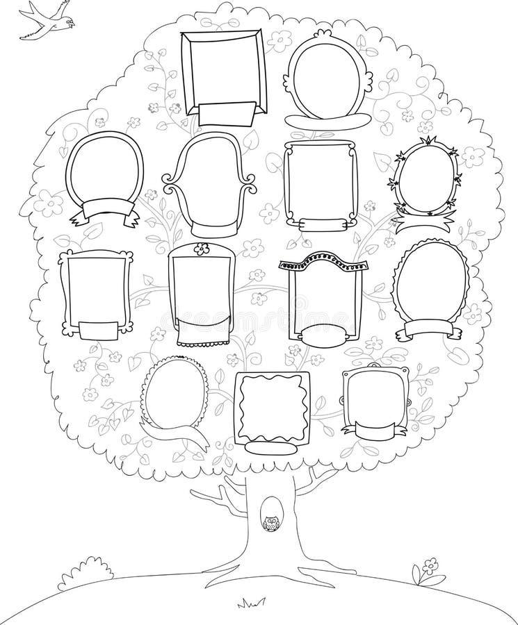 Árbol De Familia, árbol Genealógico Ilustración del Vector ...