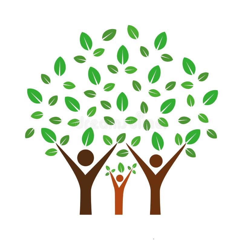 Árbol de familia stock de ilustración