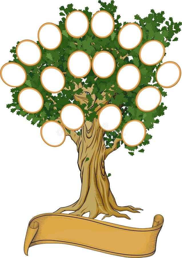 Árbol de familia ilustración del vector. Ilustración de holiday ...