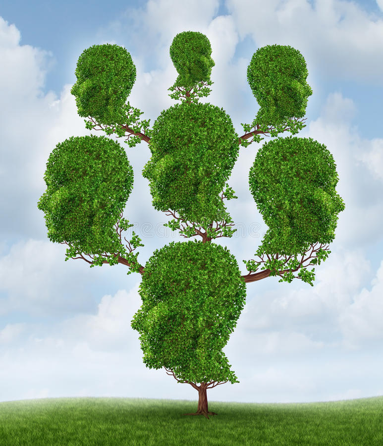 Árbol de familia ilustración del vector