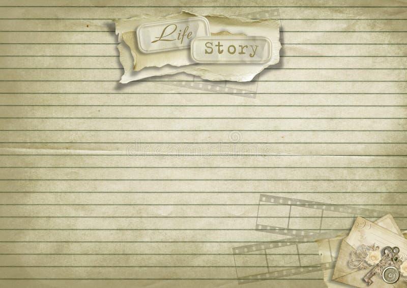 Árbol de familia del álbum de la vendimia libre illustration