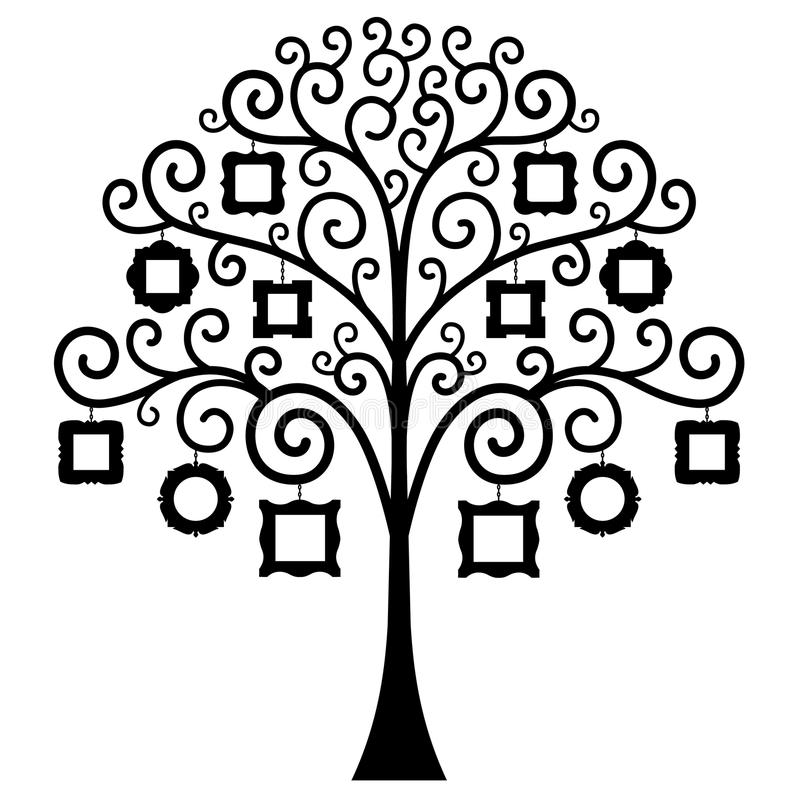 Árbol De Familia Del Vector Modelo Ilustración del Vector ...
