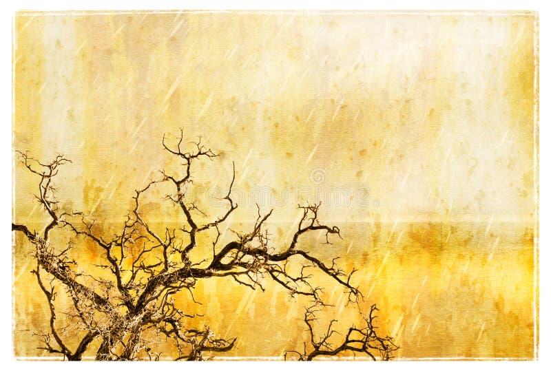 Árbol de Grunge stock de ilustración