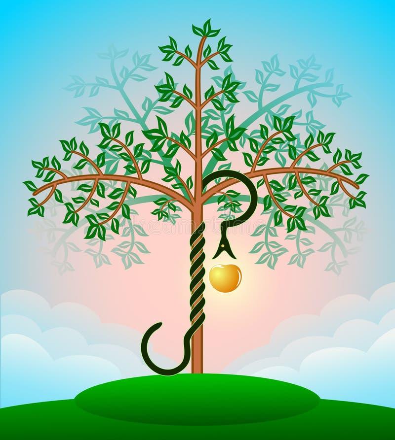 Árbol de la biblia del conocimiento stock de ilustración
