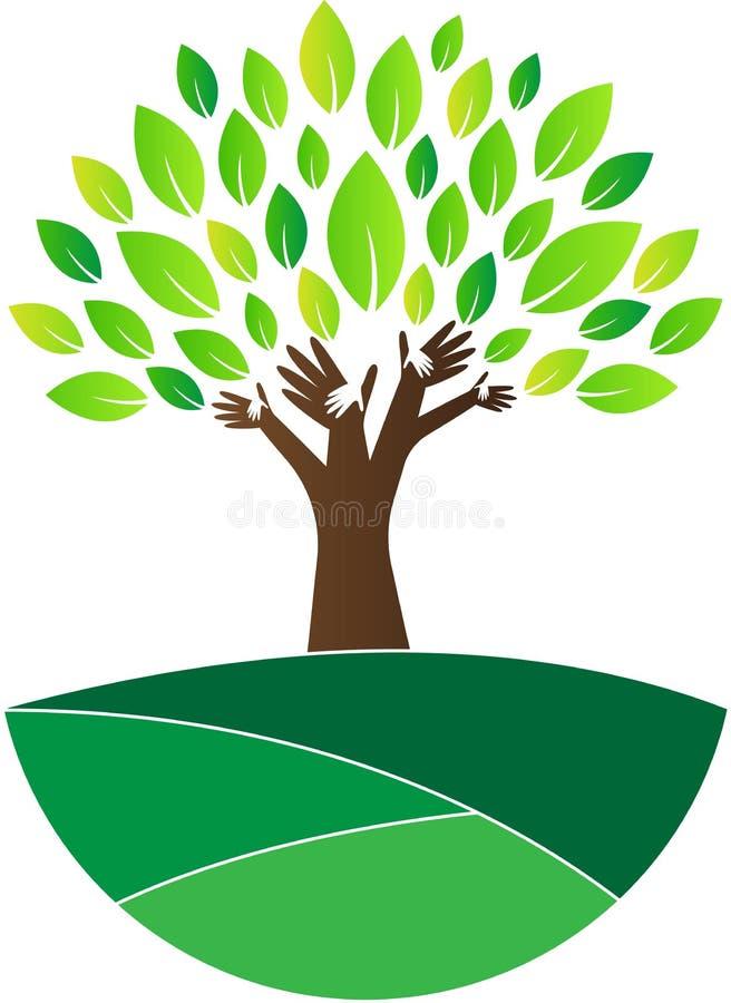 Árbol de la confianza stock de ilustración
