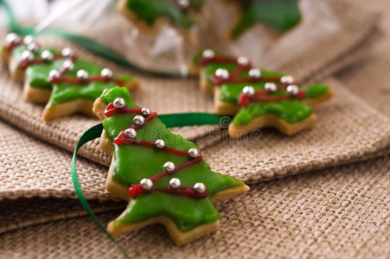 Árbol de la galleta de la Navidad imágenes de archivo libres de regalías