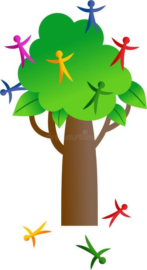 Árbol de la gente ilustración del vector