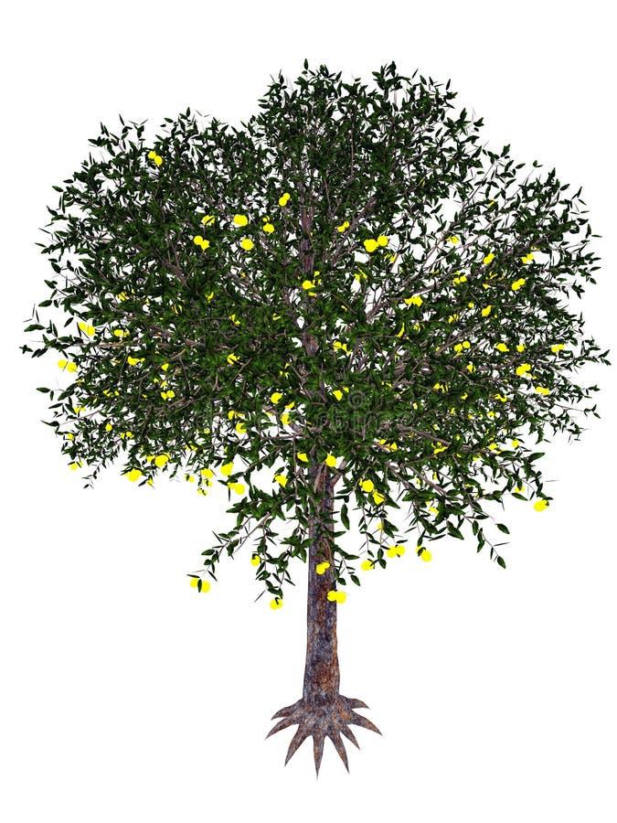 Árbol de la guayaba de fresa - 3D rinden stock de ilustración