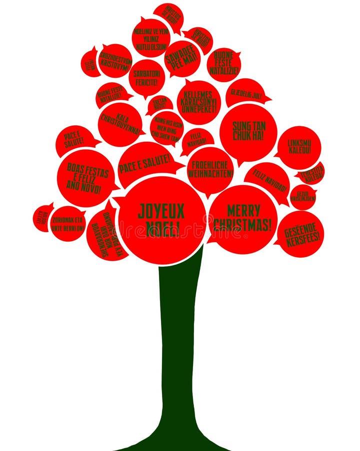 Árbol de la lengua de la Navidad stock de ilustración