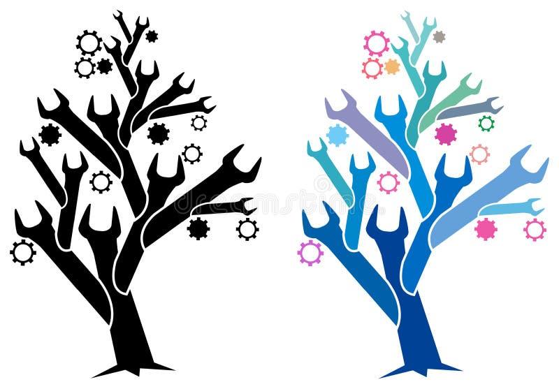 Árbol de la llave inglesa libre illustration