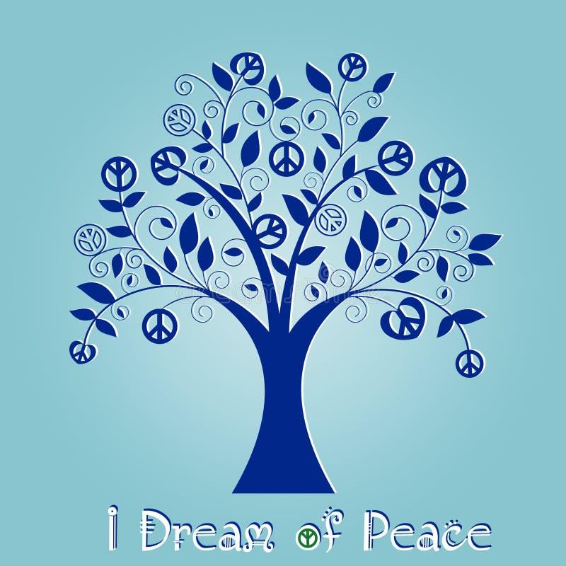 Árbol de la paz stock de ilustración