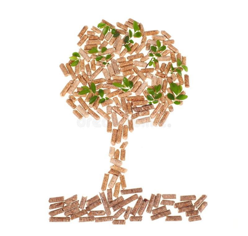 Árbol de la pelotilla de madera imagen de archivo