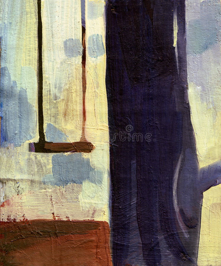 Árbol de la pintura al óleo libre illustration