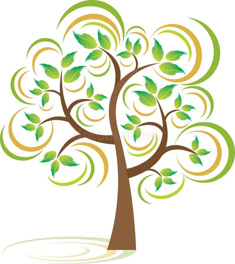 Árbol de la primavera stock de ilustración