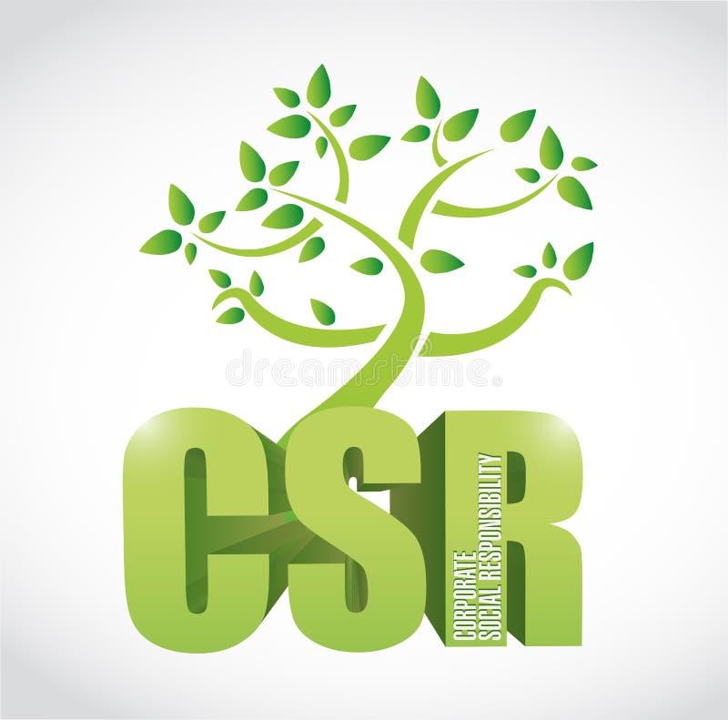 árbol de la responsabilidad social corporativa del csr stock de ilustración