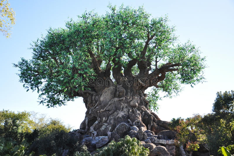 Árbol de la vida en el reino animal de Disney imagen de archivo