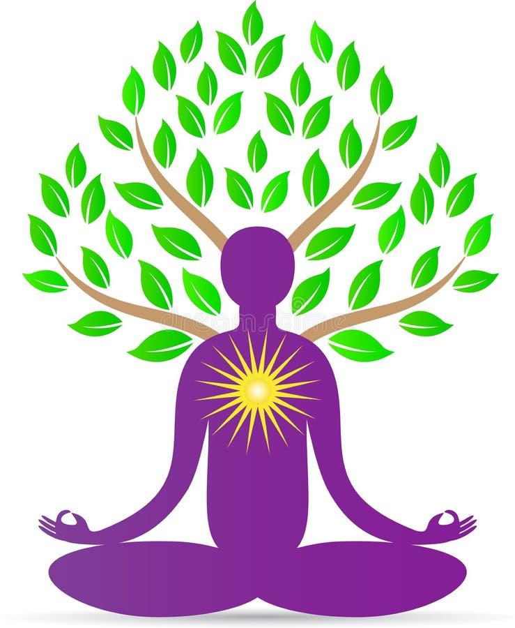 Árbol de la yoga ilustración del vector