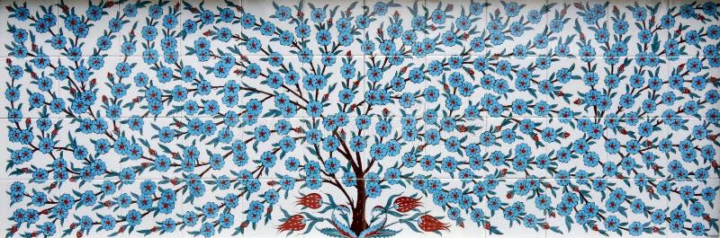 Árbol de las tejas de mosaico imágenes de archivo libres de regalías