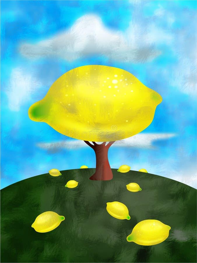 Árbol de limón stock de ilustración