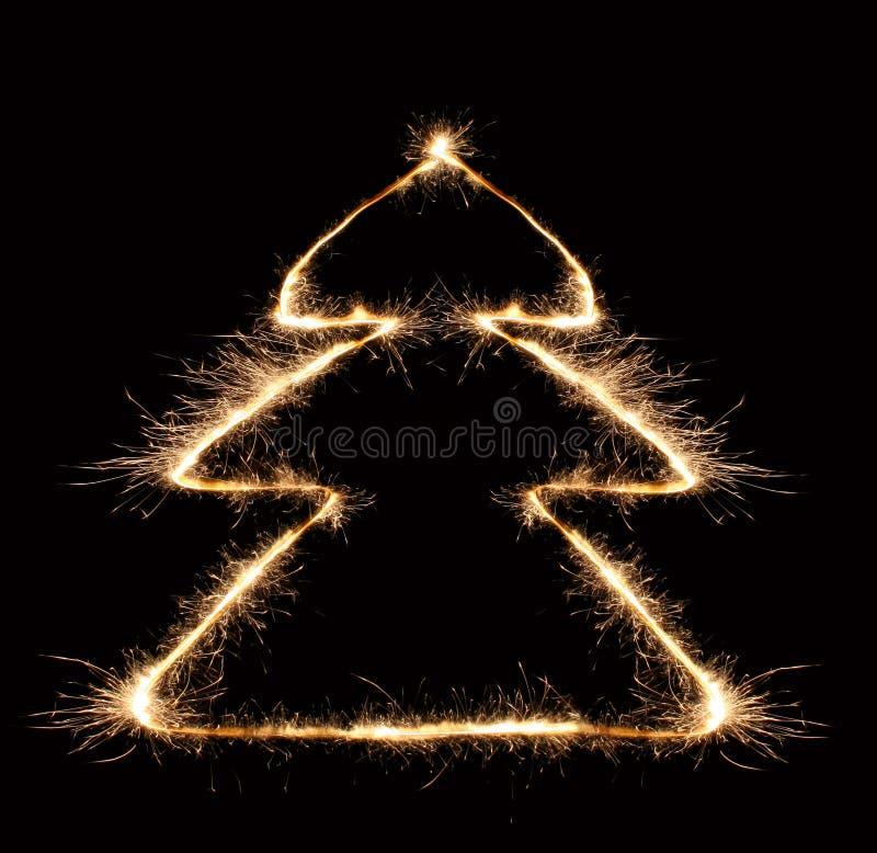 Árbol de navidad 2 del Sparkler imagen de archivo
