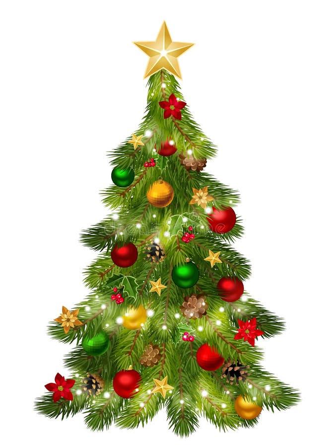 Árbol de navidad. ilustración del vector