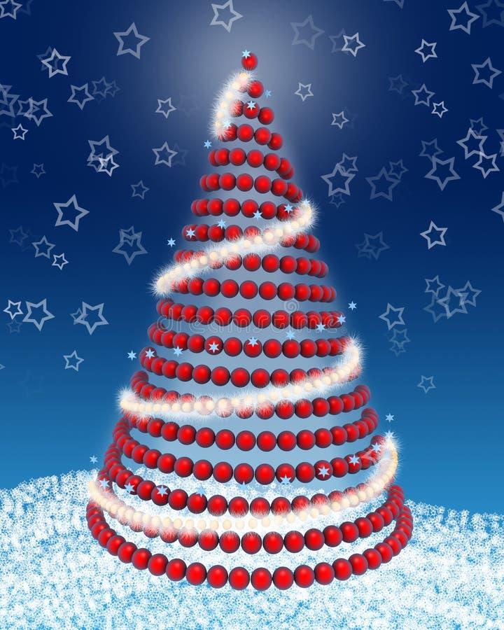 árbol de navidad 3d ilustración del vector