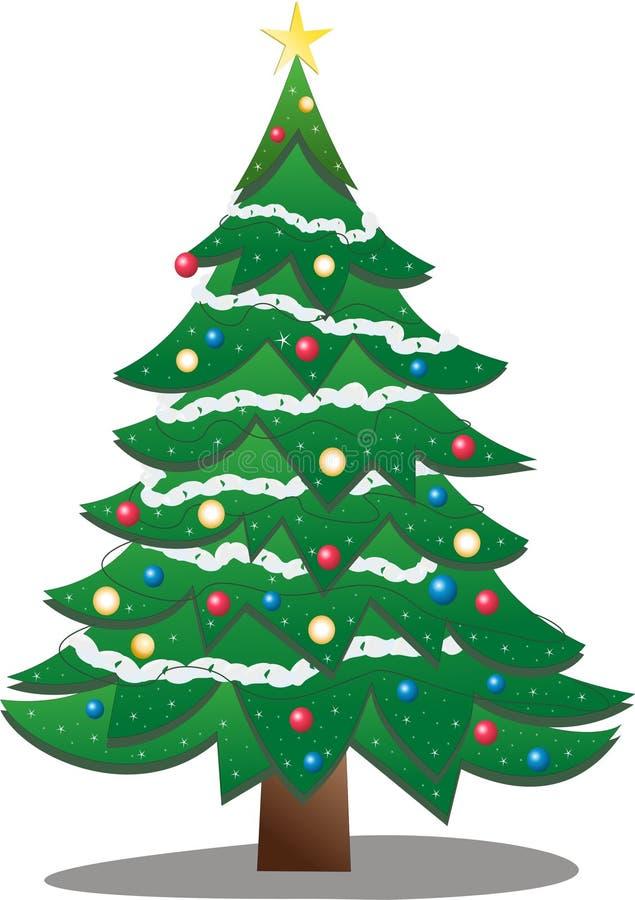Download Árbol de navidad ilustración del vector. Ilustración de chispa - 7275802