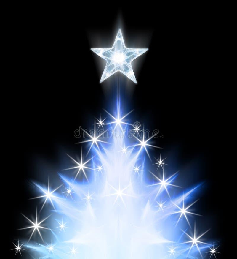 Árbol de navidad abstracto azul stock de ilustración