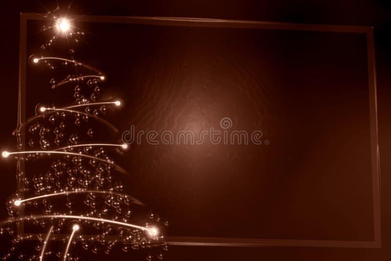 Árbol de navidad abstracto del chocolate stock de ilustración