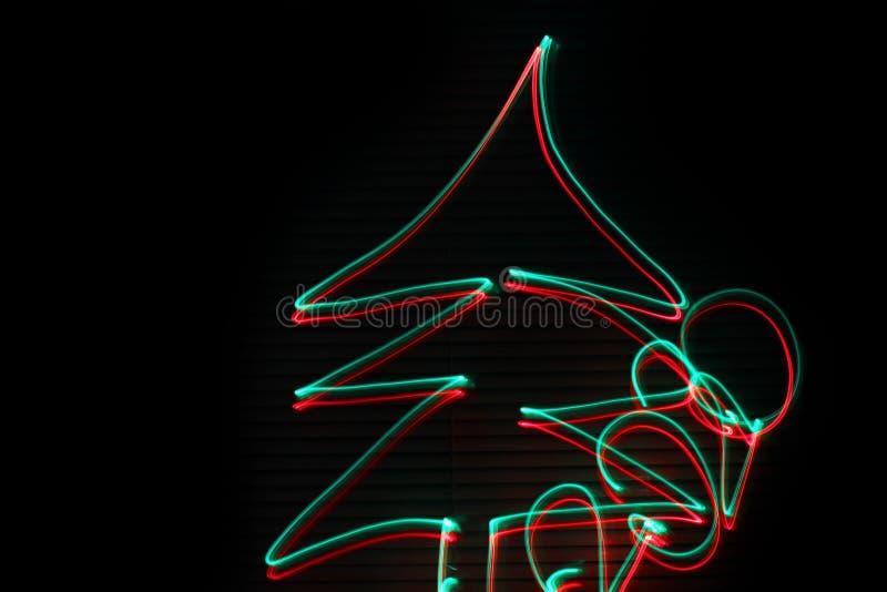Árbol de navidad 2020 abstraiga el fondo Rojo y verde imagen de archivo libre de regalías