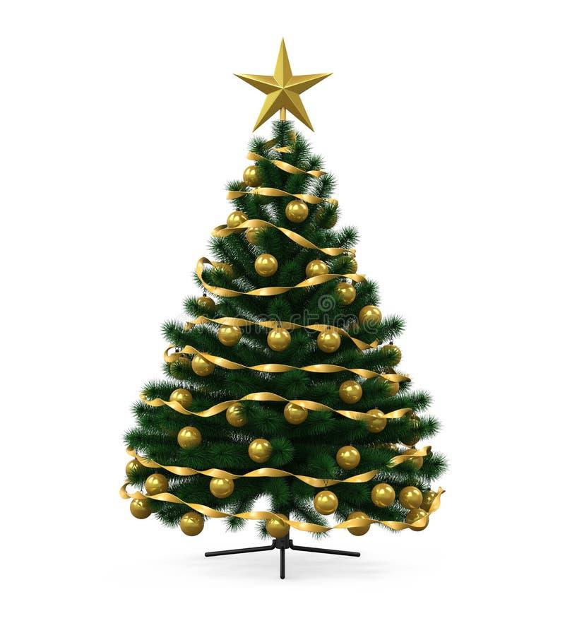 Árbol de navidad adornado libre illustration