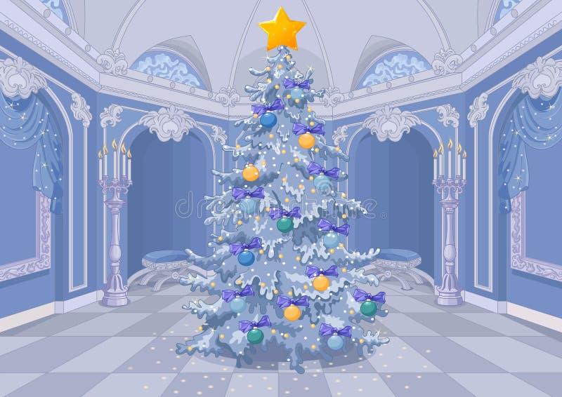 Árbol de navidad adornado ilustración del vector