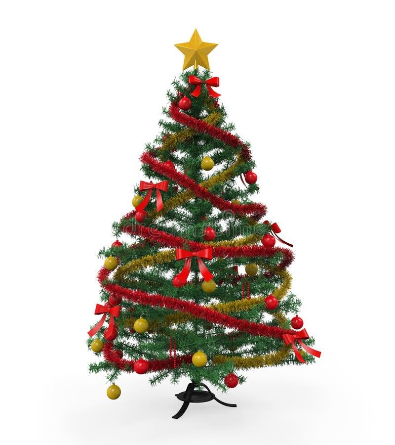 Árbol de navidad aislado stock de ilustración