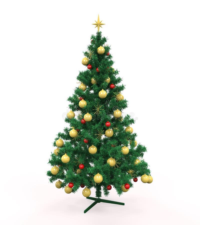 Árbol de navidad aislado libre illustration
